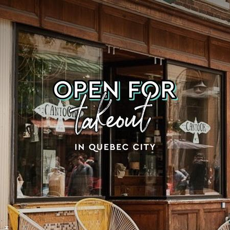 Cover of Coffee shops in Quebec City open for takeout