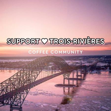 Cover of Support local coffee shops in Trois-Rivières