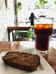 Good cold brew on tap, not so good gluten free banana bread 🍌