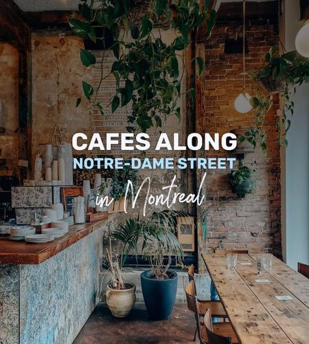 Cover of Cafes along Notre-Dame street in Montreal