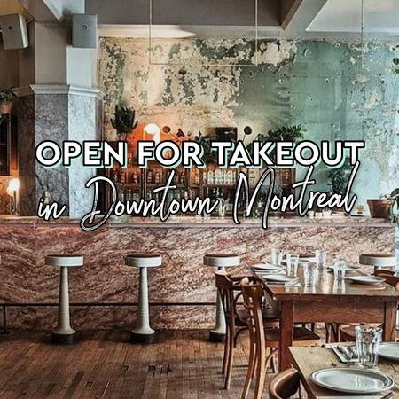 Cover of Coffee shops open for takeout in Downtown Montreal