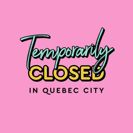 Cover of Coffee shops in Quebec City closed during the quarantine