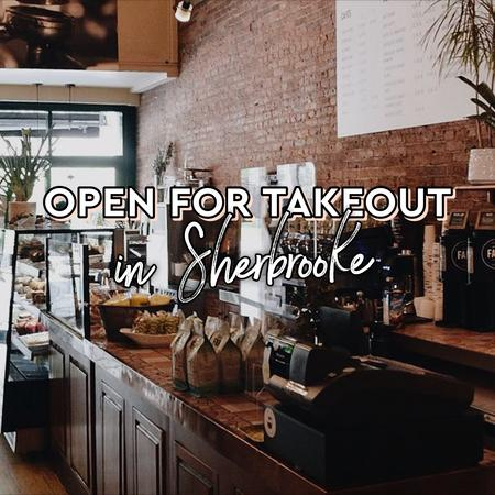 Cover of Coffee shops open for takeout in Sherbrooke
