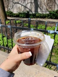 I had a very refreshing ice coffee!