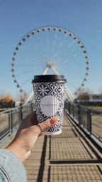 Coconut milk latte to-go ✌