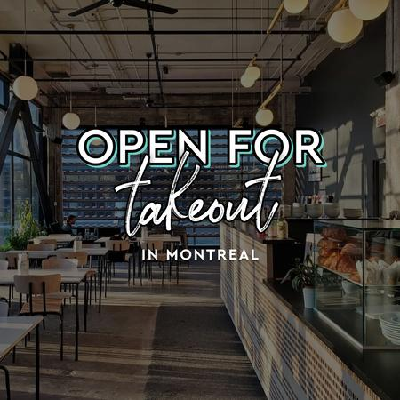 Cover of Coffee shops in Montreal open for take-out