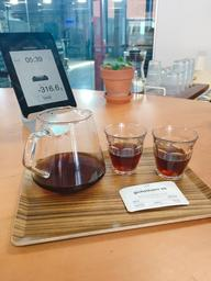 Gichathaini is a washed African coffee, with notes of blackberry, black currant, and honey! The pour over added a nice clean taste, and allowed the brightness to stand out.