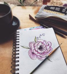 Parfait pour prendre un petit moment et dessiner! 💜