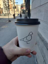 Love the look of Pigeon Espresso Bar. Latte was good also.