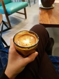 2nd cortado yesterday afternoon. I love where I was sitting, so homey.