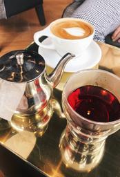 Amazing coffee and blueberry tea