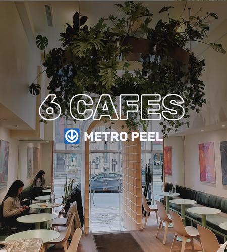 Cover of 6 cafes near metro Peel