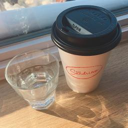 More a grab and go place. Bring your cup even if you stay in! Good strong coffee. Nice staff :)