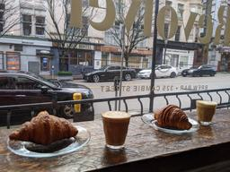 Props for stylish cafe and excellent croissants. I'm sorry to say the coffee was a real let down.