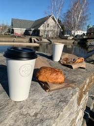 Took my friend for a birthday latte on a gorgeous morning with a beautiful view!