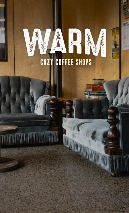 Cover of The coziest cafés in town