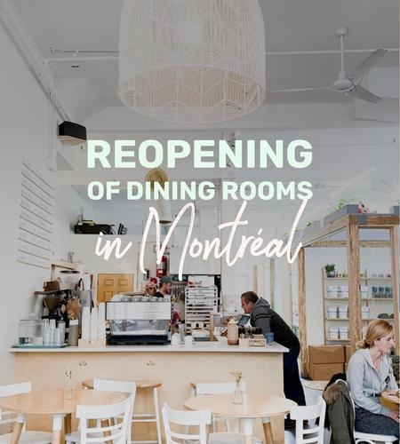Cover of Reopening of dining rooms in Montreal