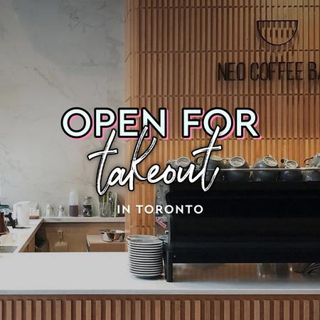 Cover of Coffee shops in Toronto open for take-out
