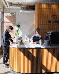 Chasing light and good coffee at Neo Coffee Bar.
