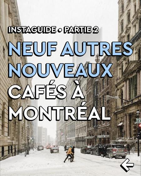 Cover of 16 New Coffee Shops in Montreal