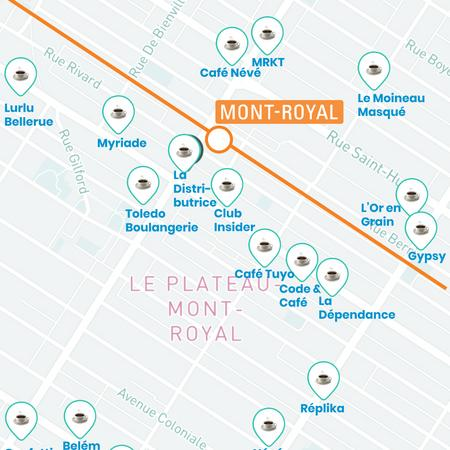 Cover of The top coffee shops to go near Mont-Royal station