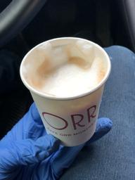 Bon cappuccino bien en mousse