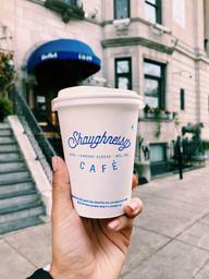Enjoyed my latte ☕️ cozy cafe atmosphere 🌿