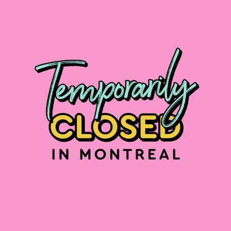 Cover of Coffee shops in Montreal closed during the quarantine