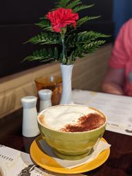 Méga cappuccino en bol.