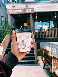 Le Caravane Café, it's been awhile #2014 Lovely place & good latte like always 👌🏾