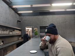 The most minimalist shop in existence. They definitely focus on the right things. Great espresso and great asthetic.