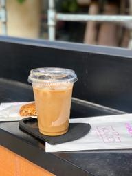 Quite the date:  Iced Macadamia Melk Maple Latte + Date Square  🖤