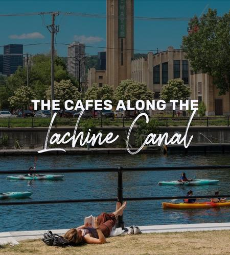 Cover of The cafes along the Lachine Canal in Montreal