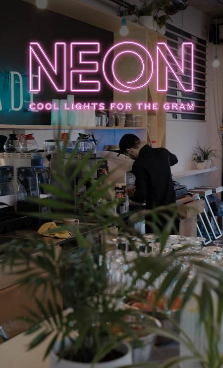 Cover of Cafés with Cool Neon Lights