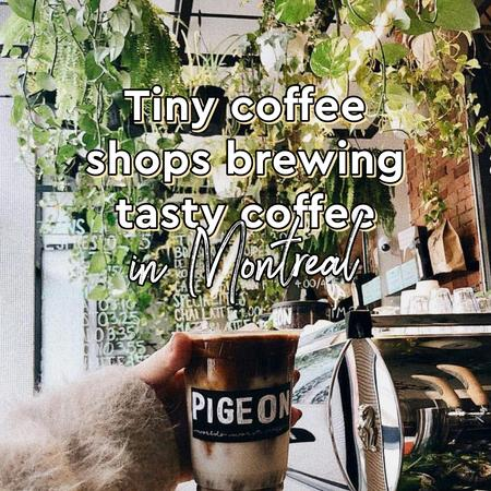 Cover of Tiny coffee shops brewing tasty coffee