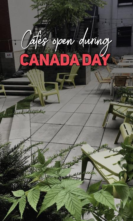 Cover of Cafés Open During Canada Day 🇨🇦