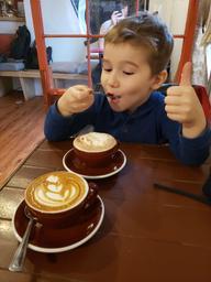 Excellent latte  à l'érable!