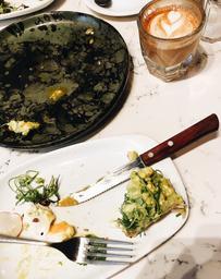 strong, smooth cortado and amazing avocado toast last saturday. ☕️🍞✨