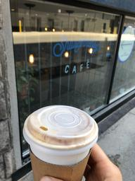 Amazing Americano with steamed oat milk